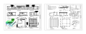 guard house floor plan guardhouse in autocad drawing bibliocad cool guard house design