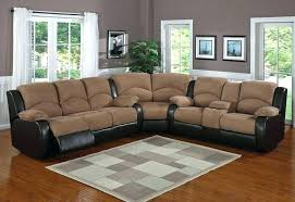 Black Microfiber Sectional Sofa With Chaise Sectional Sofa With Recliner And Chaise Lounge Couch Homelegance