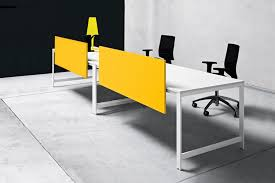 Office Table With Partition Countertop Office Divider Glass Laminate K Word Manerba