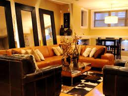 burnt orange and brown living room decor adesignedlifeblog