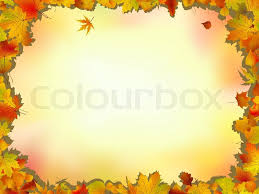 maple and oak leaves frame on soft background for thanksgiving and