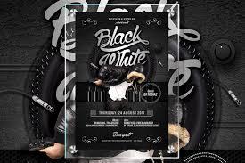 free black and white club flyer template plus bonus music u2013 denny