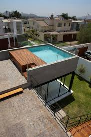 house with pool on roof