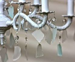 Beach Glass Chandelier How To Decorate Your Chandelier Beach Style Completely Coastal