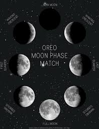 oreo moon phase match printable simply learning
