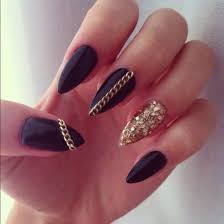 black claws nail nails claws black gold black and gold nail