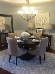Blue Dining Room Chairs Round Table For Dining Room Love The Blue And Yellow Too Home