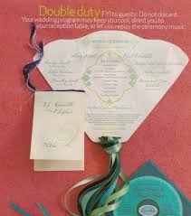 wedding ceremony fan programs wedding ceremony program fan template