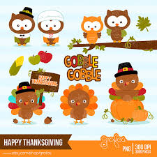 thanksgiving owl clip clip library