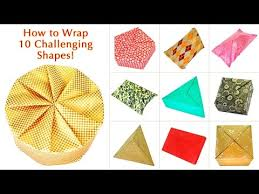 How To Gift Wrap A Present - how to wrap 10 challenging shapes wraps youtube and gift