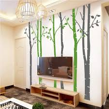 vinyl wall stickers n sunforest 8ft white birch tree vinyl wall decals nursery forest