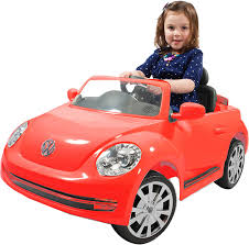 vw volkswagen beetle amazon com rollplay vw beetle 6 volt battery powered ride on red