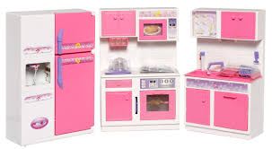 girls kitchen island with white ceramic walls paint color and pink