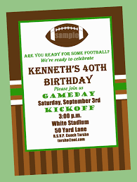 football birthday party invitation printable or printed with