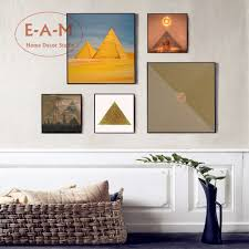 online get cheap pyramid posters aliexpress com alibaba group egypt pyramid artwork canvas art print painting poster wall pictures for kids room home decorative bedroom decor no frame