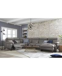 pirello 3 pc leather sectional sofa with chaise 1 power recliner