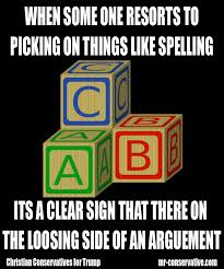 Spelling Meme - poeple pick on spelling becuase they dont not got no valid