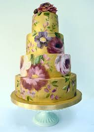 Painted Wedding Cake Cake Pinterest Painted Wedding Cake