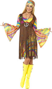 Hippie Halloween Costumes Kids Amazon Smiffy U0027s Women U0027s 1960 U0027s Groovy Lady Costume Clothing