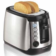 Stainless Toaster 2 Slice Hamilton Beach Keep Warm Toaster 22811