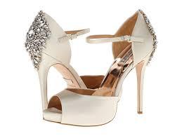 wedding shoes glasgow badgley mischka kindra ivory satin zappos free shipping both