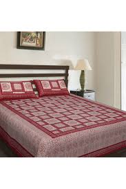 Good Bed Sheets Double Bed Cotton Printed Bedsheet In Maroon Colour Maroon Color