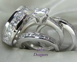 wedding sets for him and and hers diamond wedding ring sets wedding rings for him and