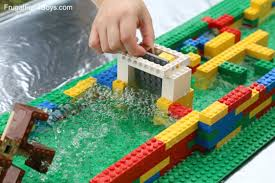 for kids build a lego water wheel