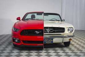 pictures of mustangs ford creates side by side 1965 2015 mustang display