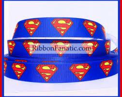 superman ribbon ribbon etsy