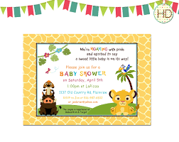 Baby Invitation Card Printable Lion King Baby Shower Invitations Theruntime Com