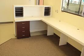 Custom Made Reception Desk Handmade Custom Made U Shapped Plastic Laminate Reception Counter