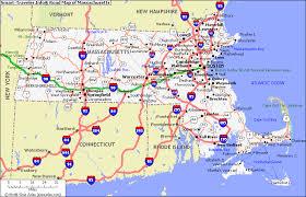 road map massachusetts usa massachusetts map