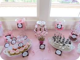 pink and gold cake table decor baby shower dessert table girls bday party pinterest pink and