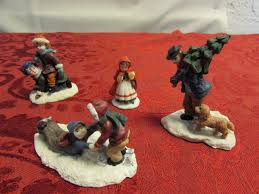 lot detail the village people miniature christmas village