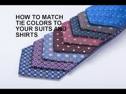 how to match tie colors to your suits and shirts youtube