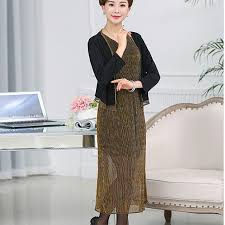 elderly woman clothes loaded autumn new shawl dress in the elderly women pq248
