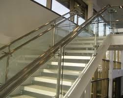 Banisters And Handrails Crl Arch Stainless Steel Post Railing Glass Balustrades And