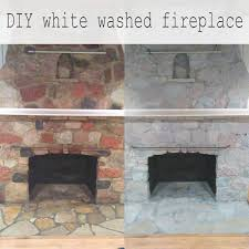 diy painted stone fireplace update an ugly stone fireplace with