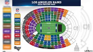 Los Angeles Crime Map by Los Angeles Rams Unveil Ticket Prices For 2016 Abc7 Com