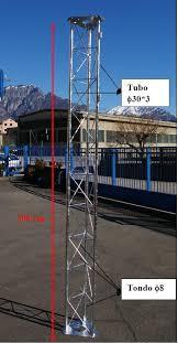 tralicci per radioamatori traliccio 30x30 rinforzato zincato a caldo sezioni di tre metri