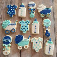 baby shower cookies classic boy baby shower cookies hayley cakes and cookies