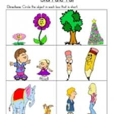 kindergarten activities big and small short and tall worksheet have fun teaching