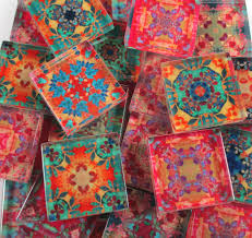 glass mosaic tiles bright colors boho moroccan designs 1