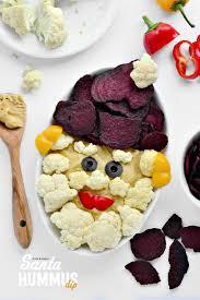 santa hummus dip fork and beans