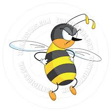 cartoon angry bee by polkan toon vectors eps 14021