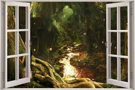 28 enchanted forest wall mural enchanted forest wallpaper enchanted forest wall mural 3d window view children fairytale enchanted forest wall