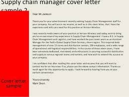 Supply Chain Management Executive Resume Supply Chain Manager Cover Letter