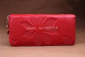 leather women s wallet pattern new designer genuine leather women s wallet flower pattern ladies