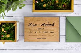 Diy Wedding Invitation Card 4 Ways To Diy Rustic Wedding Invitations With Wood Paper Cards